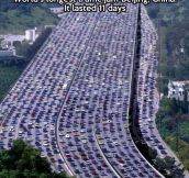 Longest traffic jam in the world…