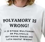 Polyamory is wrong…
