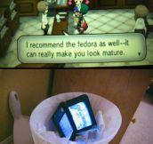 Really, a fedora?