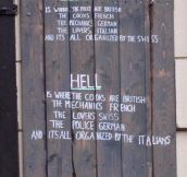 The difference between heaven and hell…