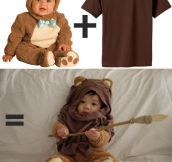 Bear costume + brown t-shirt = awesome…