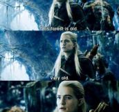 Legolas has a way with words