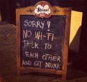 No Wi-Fi here