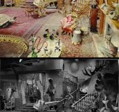 The Addams Family's living room