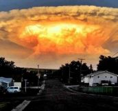 Thunderhead cloud looks like a big one just got dropped