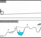 Your plans vs. the universe plans