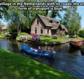 Netherlands with no roads…