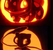 Pokemon carved pumpkins…