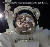 Zero gravity selfie…