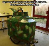 The tank man…