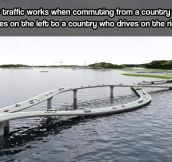 Confusing traffic…