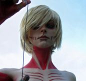 Awesome female Titan cosplay…