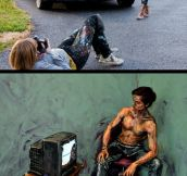 Using people as canvases…