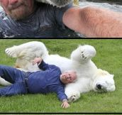 Polar Bear and trainer…