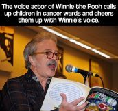 Winnie the Pooh's voice actor is a great guy…