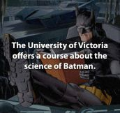 The science of Batman…
