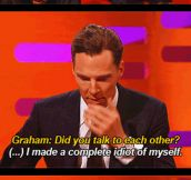 Benedict Cumberbatch is a huge fan of Harrison Ford…