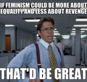 What feminism should be all about…