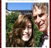 Bill Nye really loves selfies…