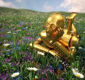 Contemplative C-3PO…