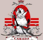 The majestic Canadian beaver…