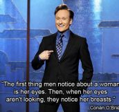 First thing to notice about a woman…