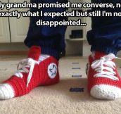 Crochet Converse slippers…