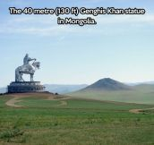 Giant Genghis Khan statue in Mongolia….