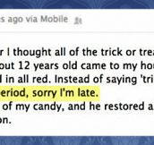 This kid is going very far in life…