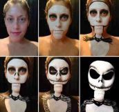 Jack Skellington Halloween make up…