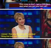 Jennifer Lawrence on the news…