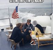JFK chilling on a yacht…