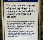 Dealing with ghosts…