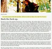 Boromir was a stand up guy…