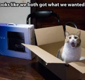We both got what we wanted…