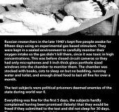 Russian sleeping experiment…