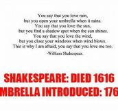 William Shakespeare was a visionary…