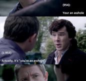 Grammar lessons from Sherlock…