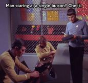 Spock doing his job…