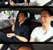 Tom Hiddleston juggling in Berlin…