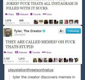 Tyler, the creator discovers memes…
