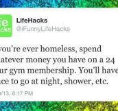 If you are ever homeless…