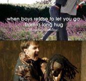 Long hug…