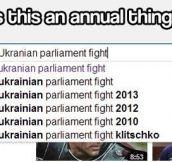 Parliament fights in Ukraine…