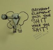 Bathroom elephant…