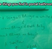 Bathroom joke…