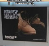 Timberland has no faith in you…