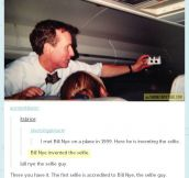 Bill Nye the selfie guy…