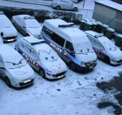 Winter at the Police department…