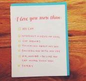 I love you more than…